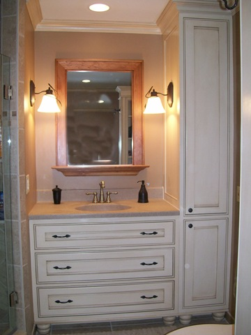 Bathroom Vanaties on Custom Bathroom Cabinets   Vanities  Fireplace Surrounds    Millwork