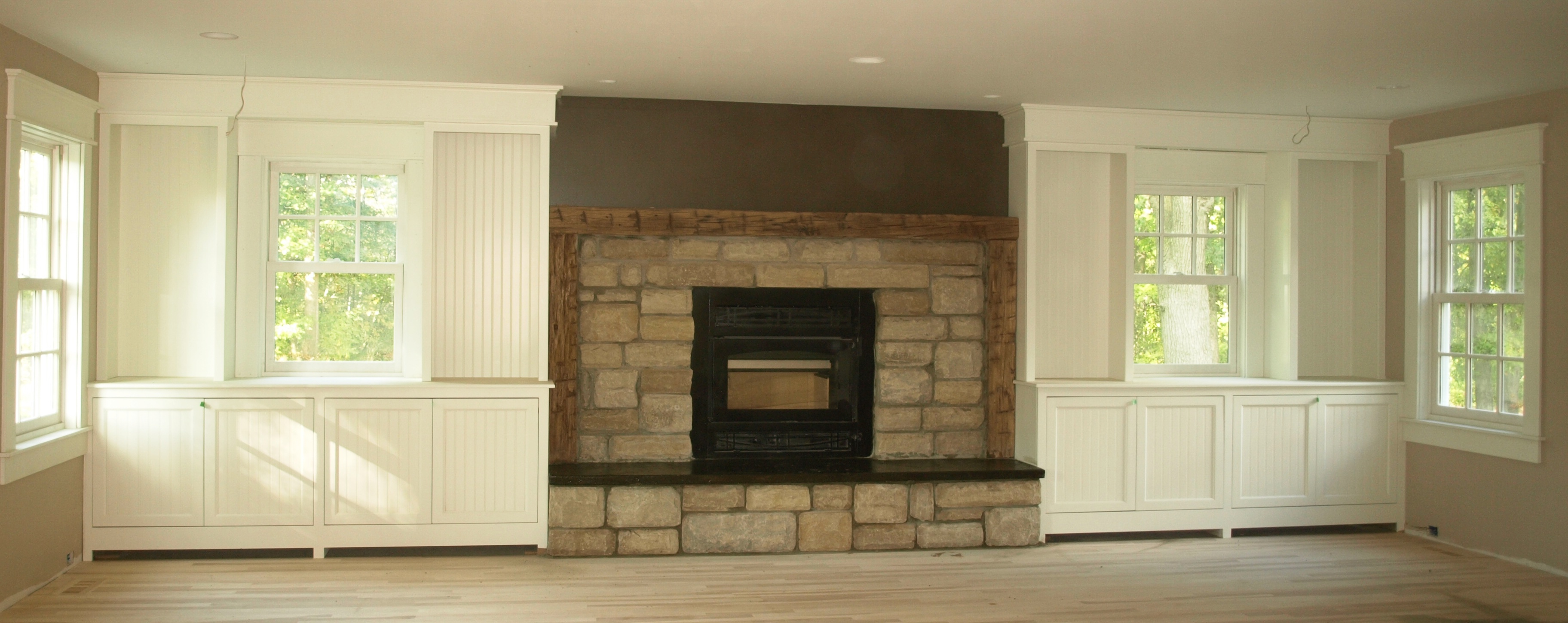 fireplace surround bookcase plans